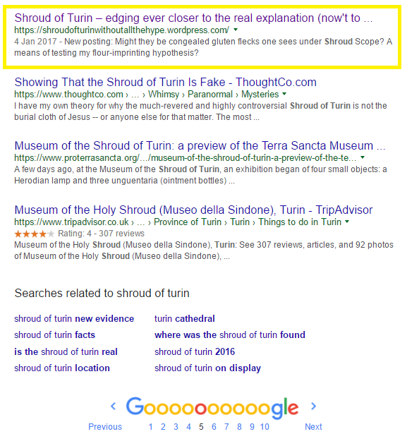s of t page 5 google- old post still listed 48 hrs after posting second face